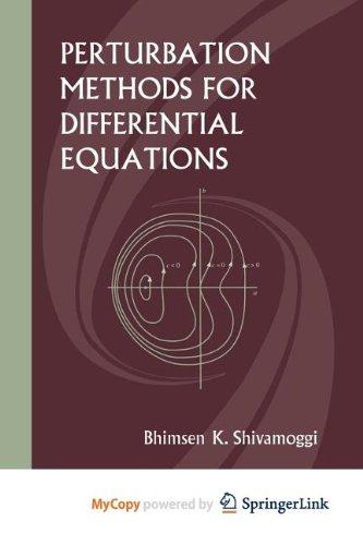9781461200482: Perturbation Methods for Differential Equations