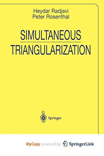 9781461212010: Simultaneous Triangularization