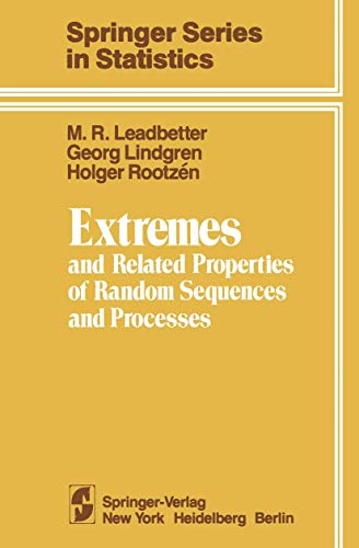 Extremes and Related Properties of Random Sequences: Leadbetter, M. R.;