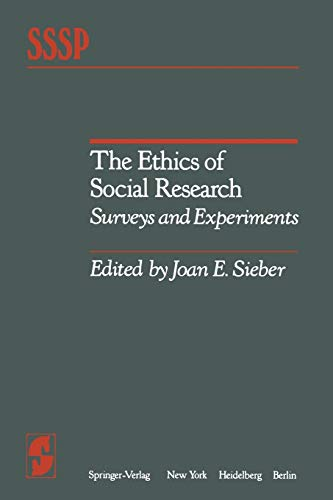9781461257219: The Ethics of Social Research: Surveys and Experiments (Springer Series in Social Psychology)