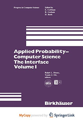9781461257929: Applied Probability-Computer Science: The Interface Volume 1