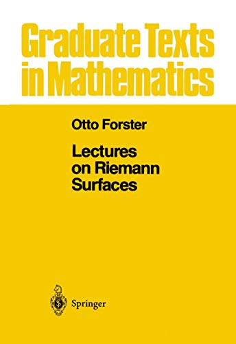 9781461259633: Lectures on Reimann Surfaces