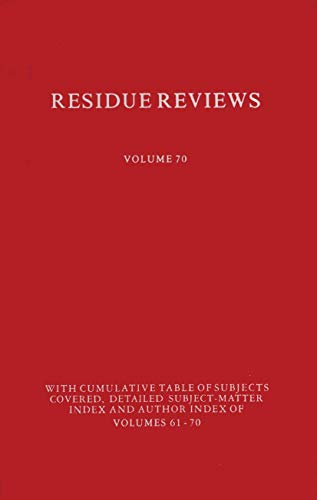 9781461261995: Residues of Pesticides and Other Contaminants in the Total Environment (Reviews of Environmental Contamination and Toxicology)