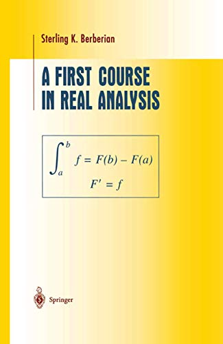 9781461264330: A First Course in Real Analysis (Undergraduate Texts in Mathematics)