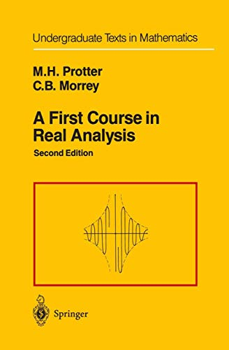9781461264606: A First Course in Real Analysis (Undergraduate Texts in Mathematics)