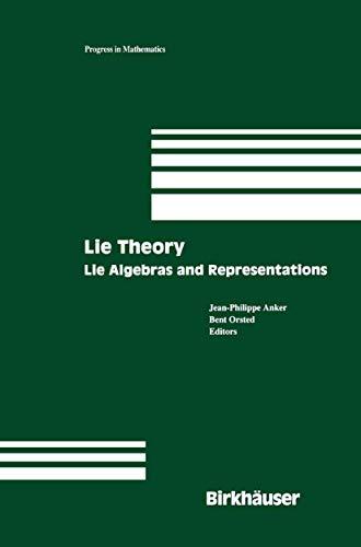 9781461264835: Lie Theory: Lie Algebras and Representations (Progress in Mathematics)