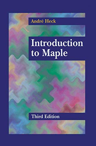 9781461265054: Introduction to Maple