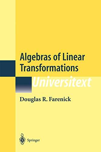 9781461265153: Algebras of Linear Transformations (Universitext)