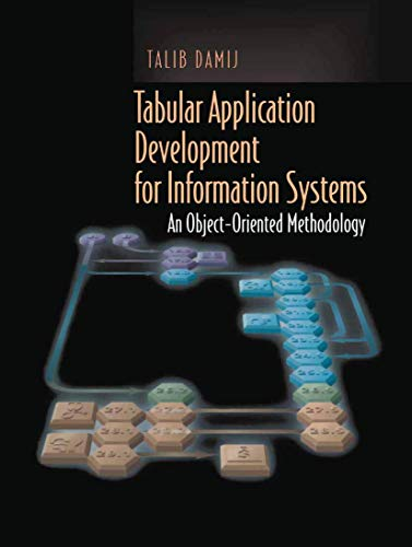 9781461265238: Tabular Application Development for Information Systems: An Object-Oriented Methodology