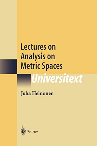 9781461265252: Lectures on Analysis on Metric Spaces (Universitext)