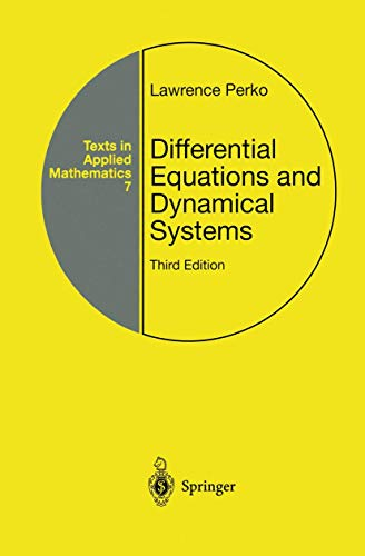 9781461265269: Differential Equations and Dynamical Systems (Texts in Applied Mathematics)