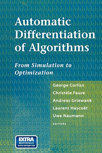 9781461265436: Automatic Differentiation of Algorithms: From Simulation to Optimization