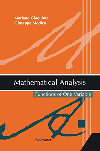9781461265702: Mathematical Analysis: Functions of One Variable