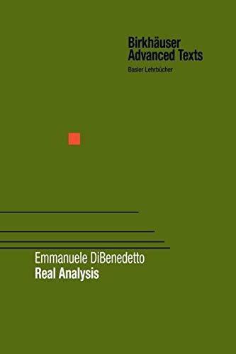 9781461266204: Real Analysis (Birkhäuser Advanced Texts Basler Lehrbücher)