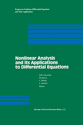 9781461266549: Nonlinear Analysis and its Applications to Differential Equations (Progress in Nonlinear Differential Equations and Their Applications)