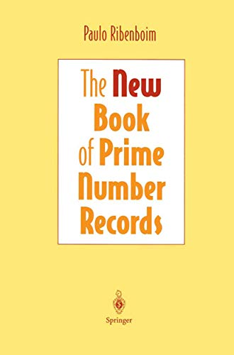 9781461268925: The New Book of Prime Number Records