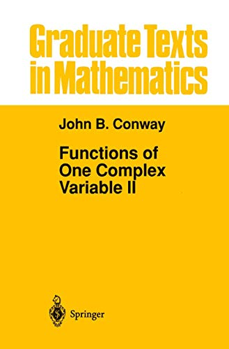 9781461269113: Functions of One Complex Variable II: Volume 2 (Graduate Texts in Mathematics)