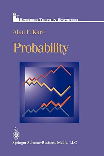 9781461269373: Probability (Springer Texts in Statistics)