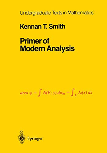 9781461270218: Primer of Modern Analysis: Directions for Knowing All Dark Things, Rhind Papyrus, 1800 B.C. (Undergraduate Texts in Mathematics)