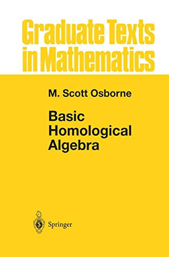 9781461270751: Basic Homological Algebra (Graduate Texts in Mathematics)