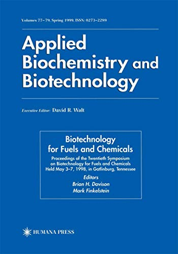 9781461272144: Twentieth Symposium on Biotechnology for Fuels and Chemicals: Presented as Volumes 77–79 of Applied Biochemistry and Biotechnology Proceedings of the 1998, Gatlinburg, Tennesee (ABAB Symposium)