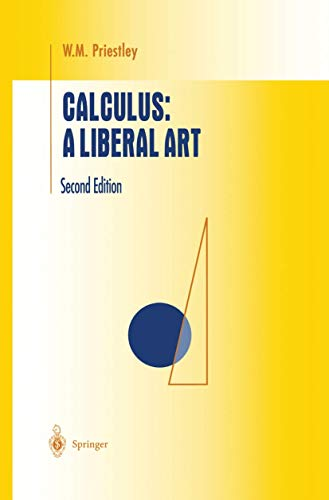 9781461272335: Calculus: A Liberal Art (Undergraduate Texts in Mathematics)