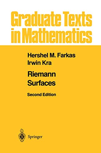 9781461273912: Riemann Surfaces (Graduate Texts in Mathematics) (Volume 71)