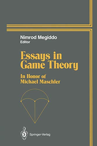 essays in game theory in honor of michael maschler  stock image