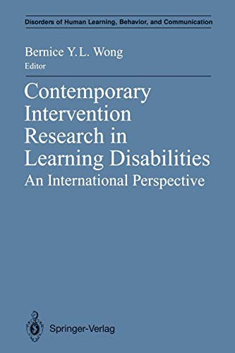 9781461276692: Contemporary Intervention Research in Learning Disabilities: An International Perspective (Disorders of Human Learning, Behavior, and Communication)