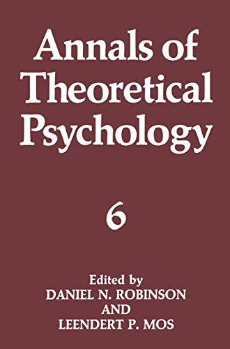 Annals of Theoretical Psychology (Volume 6): Springer