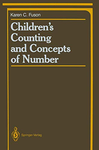 9781461283355: Children's Counting and Concepts of Number (Springer Series in Cognitive Development)