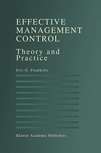 9781461285861: Effective Management Control: Theory and Practice