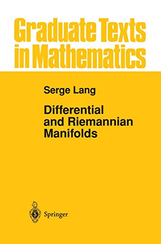Differential and Riemannian Manifolds: S. Lang