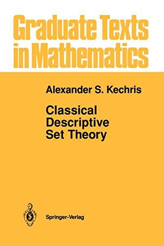 9781461286929: Classical Descriptive Set Theory