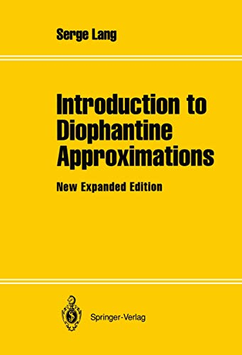 9781461287001: Introduction to Diophantine Approximations: New Expanded Edition
