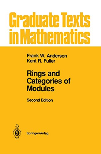 9781461287636: Rings and Categories of Modules (Graduate Texts in Mathematics)