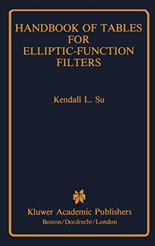9781461288299: Handbook of Tables for Elliptic-Function Filters