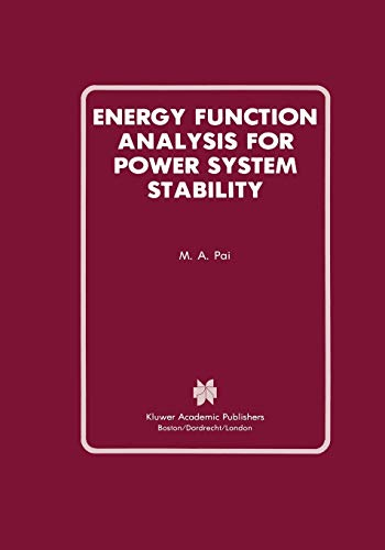 9781461289036: Energy Function Analysis for Power System Stability (Power Electronics and Power Systems)
