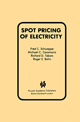 9781461289500: Spot Pricing of Electricity (Power Electronics and Power Systems)