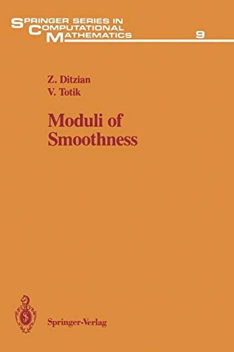 9781461291510: Moduli of Smoothness (Springer Series in Computational Mathematics)
