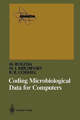 Coding Microbiological Data for Computers (Paperback): Morrison Rogosa, Micah