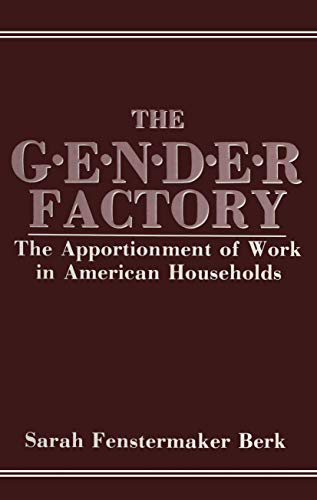 9781461294610: The Gender Factory: The Apportionment of Work in American Households