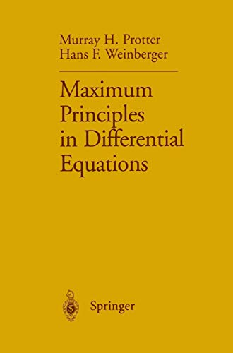 9781461297697: Maximum Principles in Differential Equations