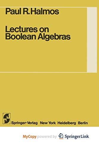 9781461298564: Lectures on Boolean Algebras