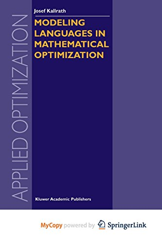 9781461302162: Modeling Languages in Mathematical Optimization