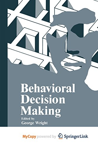 9781461323921: Behavioral Decision Making