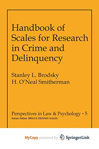 9781461333012: Handbook of Scales for Research in Crime and Delinquency