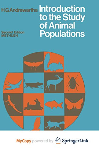 9781461333258: Introduction to the Study of Animal Populations: 2. edition. Reprintedition