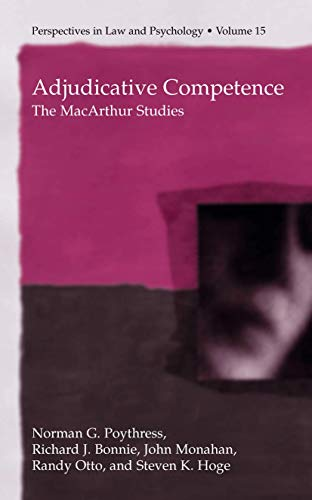 9781461346296: Adjudicative Competence: The MacArthur Studies (Perspectives in Law & Psychology)