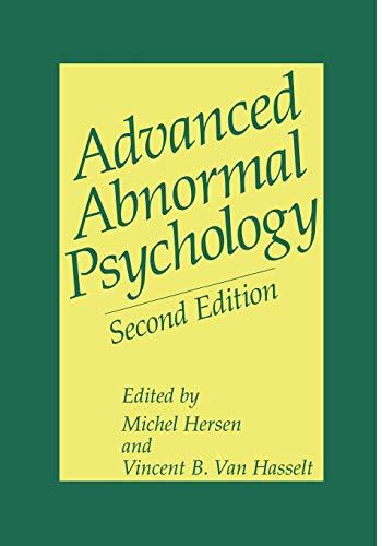 9781461346319: Advanced Abnormal Psychology